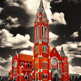 The Cathedral Shrine of the Virgin of Guadalupe in Dallas, Texas, isolated on black and white by Watch And Relax