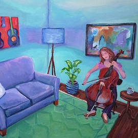 The Cellist in a Room by Sandy Herrault