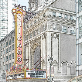 The Chicago Theater by Nancy Carol Photography