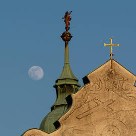The Church and the Moon by Martin Vorel Minimalist Photography