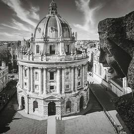 The city of Oxford and an ancient gargoyle by Karel Miragaya