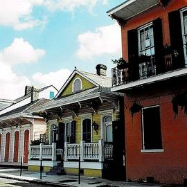 The Colorful Row Houses in New Orleans by Dora Sofia Caputo