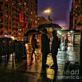 The Conversation - Rainy Night in New York by Miriam Danar