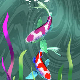 The Couple Fish on a River by Allan Dennis Urpina