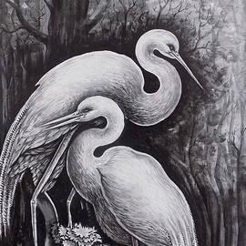 The Cranes Portrait by Asp Arts