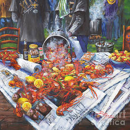 The Crawfish Boil II - Non-Alcholic Scene by Dianne Parks