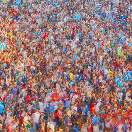 The Crowd - Impressionism by McCarthy Designs