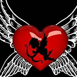 The devil's heart with a love spreading Baby Angel by Hannah Leah