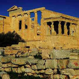 The Erechtheion and Caryatids in Athens by Cassi Moghan