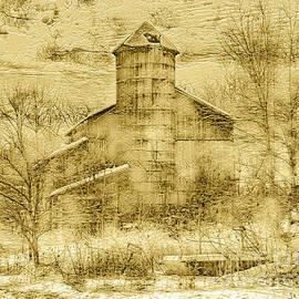 The Family Farm Embossed Sepia by John Stephens