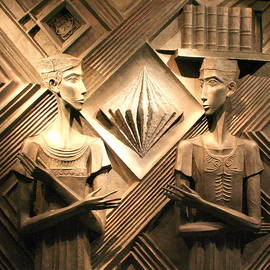 The Family Library Sculpture at the Library of Alexandria in Egypt by Laurel Talabere