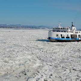 The ferry Quebec - Levis During Winter by Lieve Snellings