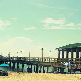 The Fishing Pier at Lauderdale By The Sea by Dora Sofia Caputo