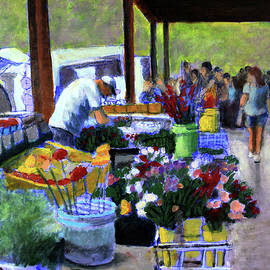 The Flower Stall by David Zimmerman