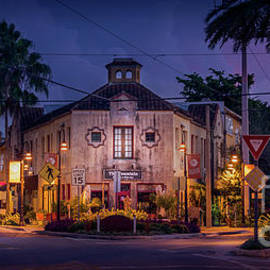 The Fountain Kitchen and Wine Bar in Sarasota at Blue Hour by Liesl Walsh