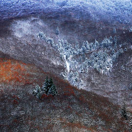 The Frost Line, French Alps at Sunsets by Imi Koetz
