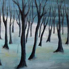 The frozen forest by Aniko Hencz
