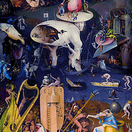 The Garden of Earthly Delights - Panel 3 by Hieronymus Bosch