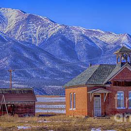 The Gas Creek School 1890 Colorado by Janice Pariza