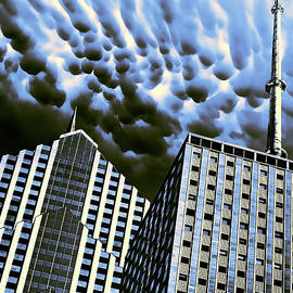 THE GATHERING STORM Prudential Plaza  by William Dey