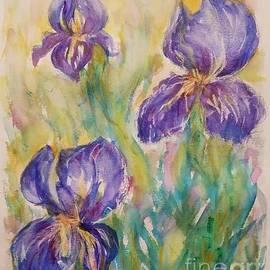The gentle irises by Olga Malamud-Pavlovich