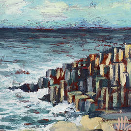 The Giant's Causeway Northem Ireland painting by Vali Irina Ciobanu by Vali Irina Ciobanu