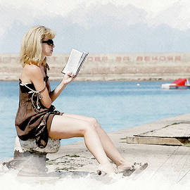 The girl with the book by Igor Klyakhin