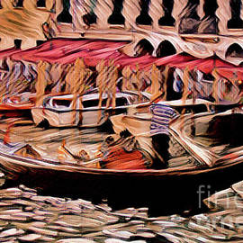 The Gondola Man - painterly by Chris Bee Photography