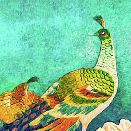 The Handsome Peacock - Kimono Series by Susan Maxwell Schmidt