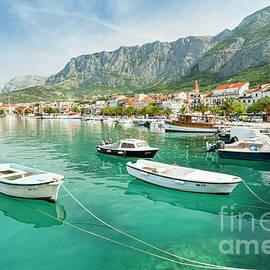 The harbour, Makarska, Croatia by Justin Foulkes