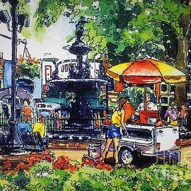 The Hotdog Stand, Wednesday Concert in the Park, Fountain Square, Bowling Green, Kentucky by Misha Ambrosia