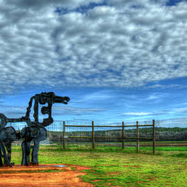 The Iron Horse Farm Panorama University Of Georgia Agricultural Landscape Sculpture Art by Reid Callaway
