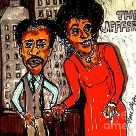 The Jeffersons Geroge And Lousie by Geraldine Myszenski