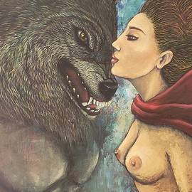 The kiss,  A Retell Story of Little Red Ridding hood and the Wolf