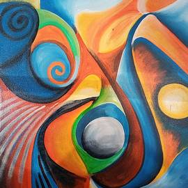 The lady,Large painting by Jafeth Moiane