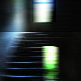 The light on the dilapidated Staircase by Imi Koetz