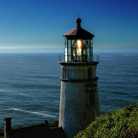 The Lighthouse At Heceta Head  by Mitch Shindelbower