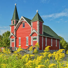 The Little Red Church by Jurgen Lorenzen