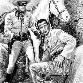 The Lone Ranger b w by Andrew Read