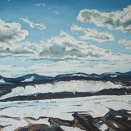 The melting snow in the Appalachians by Francois Fournier