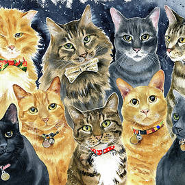 The Menagerie Cat Family by Dora Hathazi Mendes