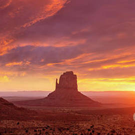 The Mittens at Sunrise, Monument Valley Navajo Tribal Park, Arizona, USA by Neale And Judith Clark