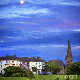 The Moon Rising Over Silloth by Ian Lewis