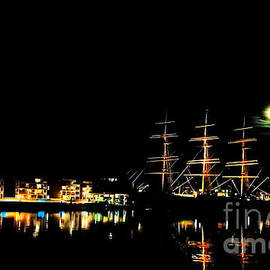 The Moon's Sailing Ship by Chris Bee Photography