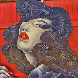 The Murals of Asbury Park - Femme Fatale by Allen Beatty