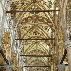 The Nave Ceiling - Basilica de S. Anastasia, Verona by Lesley Evered