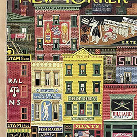 The New Yorker - Old School Houses Art - March 18, 1944 by Ali Lahkim