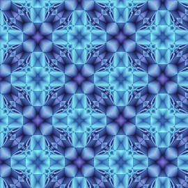 The Blue  Optical Illusion  by Grace Iradian