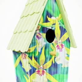 The Orchid Sunday Charm Birdhouse by Chrystyne Novack