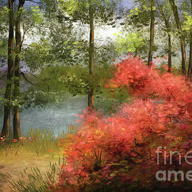 The Path Along The Lake by Lois Bryan